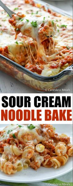 This Sour Cream Noodle Bake is loaded with ground beef, smothered with 3 differe. - This Sour Cream Noodle Bake is loaded with ground beef, smothered with 3 different types of cheese - Italian Casserole, Pasta Casserole, Casserole Dishes, Casserole Recipes, Beef Dishes, Food Dishes, Main Dishes, Side Dishes, Sour Cream Noodle Bake