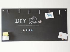 Kostenlose Anleitung: Magnetisches Blackboard selber bauen / free diy tutorial: magnetic board via DaWanda.com