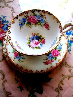 So gorgeous.Floral tea cup n saucer Squires Squires dominic Street…