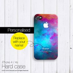 Personalised iPhone 5s case, iPhone 4 case, iPhone 5 case, teal emerald turquoise grape galaxy S487P, christmas gift ($26.99) - Svpply