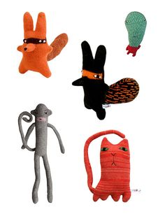 plush toys by Donna Wilson