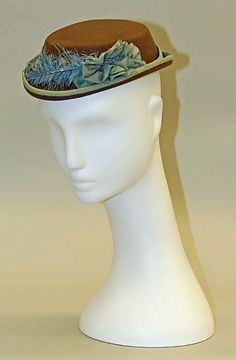 Hat 1868, American, Made of wool