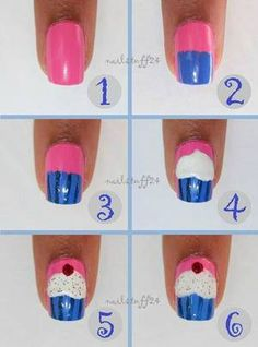nail art for beginners step by step – Easy Nails Nail Art For Kids, New Nail Art, Nail Art Diy, Easy Nail Art, Diy Art, Trendy Nail Art, Cute Nail Art, Cute Nails, Diy Nail Designs