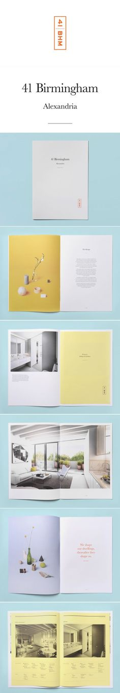 This feels light and airy, much like the apartment looks. - 41 Birmingham | NaughtyFish #editorial #graphic #design