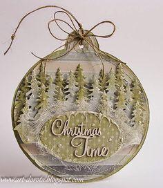 Nie może w tym roku zabraknąć świątecznych bombek :) Dzisiejsze zrobiłam z najnowszej kolekcji papieru  Zimowy poranek       Pozdrawiam se...