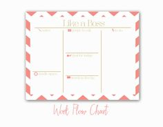 Like A Boss Work Flow Notepad by EmilieMarianDesigns on Etsy, $19.00