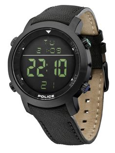 Police Men's Cyber Digital Watch with Black Strap Police Watches, Watches For Men, Wrist Watches, Watch Companies, Watch Brands, Papa Style, Brand Name Watches, Watch Sale, Color Negra