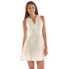 LC Lauren Conrad Lace A-Line Dress -On trend and on sale! Flattering A-line dress for summer wardrobe! Adorable.