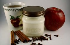 Mason Jar Candle Mulled Cider Scented Wood Wick Soy Container Candle | blackberrythyme - Candles on ArtFire