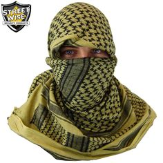 """Product FeaturesWorn by military personnel around the worldGreat for camping, outdoor sports, paintball, survival, etc.Protects the head from sand, wind, sun and other harsh elementsAbsorbs sweat in summer & retains heat in winterMade of 100% lightweight woven cotton fabricSuitable for both men and womenGreat as a fashion accessoryDimensions: 42"""" x 42""""Weight: 0.4 lbs.1-Year Limited WarrantyMade of 100% lightweight woven cotton fabric, the Streetwise survival shemagh ..."""