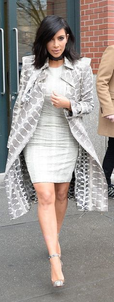 Kim Kardashian's idea of Winter street style.