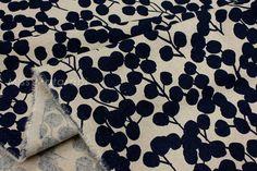 Japanese Fabric Wattle black van MissMatatabi op Etsy