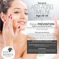 Ages 25 – 35 Focus: #Prevention #Beauty #Skin #Skinhealth #HealthyAging @PureEstheticsSandton