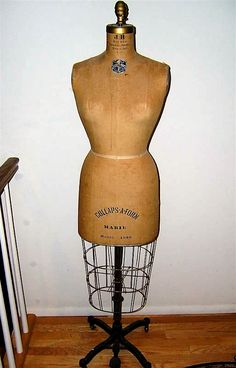 Antique Victorian Dress Form with Metal Cage  Studios and ...