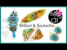 Shibori Ribbon - Embroidery Beadworks - Soutache - Creations Update 2 - YouTube