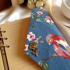 Creative handmade natural series spiral notebook,vintage fabric cover travel journal office School supplies A5 A6