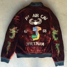 "1980s Vietnam Souvenir Jacket $225 Size M(27""x24"") Contact the shop at 415-796-2398 to purchase by phone or send PayPal payment to afterlifeboutique@gmail.com and reference item in post; the first confirmed payment will get the item.  Call or DM with other questions."
