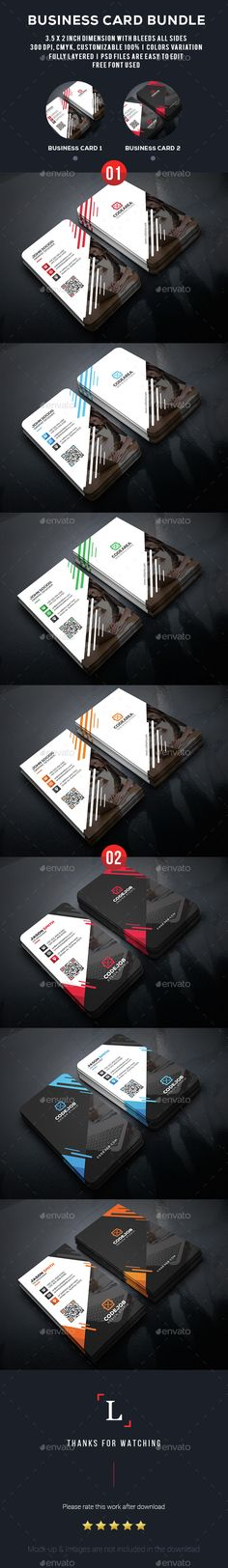 Elegant Business Card Bundle Template PSD. Download here: http://graphicriver.net/item/elegant-business-card-bundle/15352628?ref=ksioks