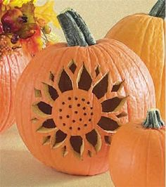 Carve a Sunflower Pumpkin