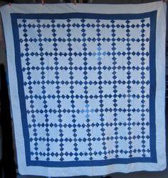 Nine Patch Quilt at www.antiquequilts.com/catalog16.htm#17690