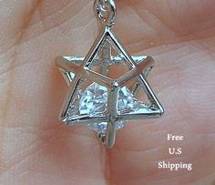 Merkaba necklace, Sterling silver, Merkaba jewelry, sacred Geometry, Merkaba pendant, energy field, energy necklace, talisman, star of david by LifeForceEnergy on Etsy https://www.etsy.com/listing/229631217/merkaba-necklace-sterling-silver-merkaba