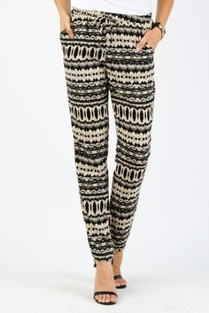 Abstract Print Trouser Pants