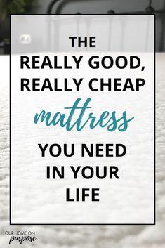 best mattress to buy mattress topper cheap mattress memory foam Cheap Mattress, Affordable Mattress, Best Mattress, Your Life, Clean House, Purpose, Stress, Homemaking, Memory Foam