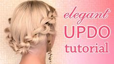 Zarif Örgülü Kabarık Saç Modeli Yapılışı - Özel günler için veya günlük evde yapabileceğiniz zarif ve hoş örgülü kabarık saç modeli tekniği (Knotted Updo Hairstyle Prom Wedding Hair Tutorial Video)