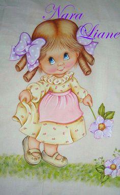 Pintura em tecido de bonecas | meninas