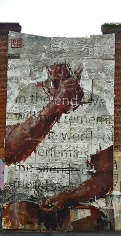 By Borondo. Street Art in Atlanta (corner of Auburn and Jesse Hill, Jr)