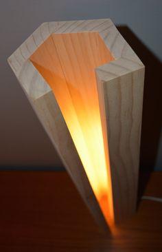 Modern Wood Lamp by NomadWoodworkingShop on Etsy – garage Lamp Design, Lighting Design, Luxury Lighting, I Love Lamp, Wood Lamps, Diy Wood Projects, Decoration, Floor Lamp, Light Fixtures