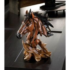 Spirit+Of+The+Stallion+Bust. The unbridled beauty of this dramatic stallion bust will make a spirited statement in your decor. Perfect for your desktop, mantel or book shelf.