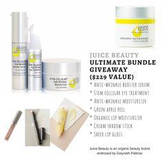 Enter to Win Juice Beauty Organic Anti-Aging Ultimate Bundle $229 value