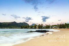 Sunrise at Kalapaki Beach by Daryl L Hunter Hawaii Landscape, Kauai, Sunrise, Wall Art, Beach, Water, Outdoor, Gripe Water, Outdoors