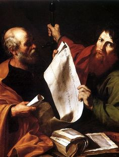 Jusepe de Ribera - St Peter and St Paul, c. 1616, oil on canvas, 126 x 112 cm, Strasbourg, Musée des Beaux-Arts.