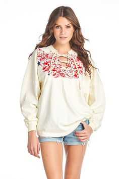 American Beauty Lace-Up Spirit Jersey®
