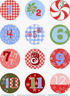 Juego Pegatinas de Navidad Calendario de Adviento N/úmeros 1-24 Adornos Regalo Skyiy 10 Hojas