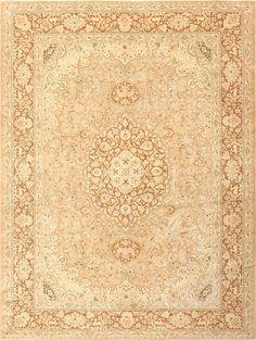 Vintage Alabaster Persian Tabriz Rug 50444