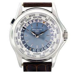 Patek Philippe Platinum World Time Wristwatch Ref 5110P