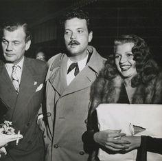Joseph Cotten, Orson Welles and Rita Hayworth, 1945