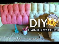 Painting Fabric With Annie Sloan Chalk Paint - YouTube