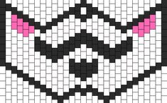 Kandi Patterns for Kandi Cuffs - Characters Pony Bead Patterns Kandi Mask Patterns, Pony Bead Patterns, Beading Patterns Free, Peyote Patterns, Cross Stitch Patterns, Pony Bead Projects, Kandi Cuff, Rave Costumes, V For Vendetta