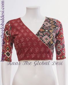 readymade saree blouse online USA Kalamkari Blouse Designs, Cotton Saree Blouse Designs, Fancy Blouse Designs, Kurti Neck Designs, Kalamkari Blouses, Saree Blouse Patterns, Dress Designs, Stylish Blouse Design, Designer Blouse Patterns