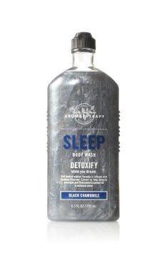 Bath and Body Works Aromatherapy Sleep Body Wash Detoxify Black Chamomile 10 fl oz by Bath & Body Works, http://www.amazon.com/dp/B001L1CWNA/ref=cm_sw_r_pi_dp_ii1Wrb008QD5H