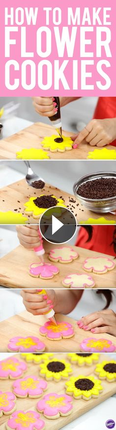 Learn how to decorate cookies with Rosanna Pansino! In this video, Ro shows you how easy it is to make a sunflower and hibiscus cookie using the same cookie cutter from the Cookie Doodler Cookie Cutter Set! This is a perfect project for Mother's Day or as special treats for any celebration.