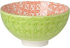 Now Designs Scirocco Embossed Bowl, Green, Set of 6