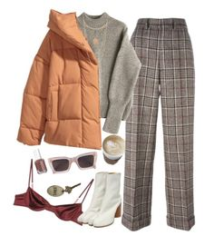 A fashion look from December 2017 featuring loose fit sweater, oversized hooded jacket and brown trousers. Browse and shop related looks. Look Fashion, Fashion Outfits, Womens Fashion, Fashion Ideas, Outfit Goals, My Outfit, Holiday Outfits, Fall Outfits, Stylish Outfits