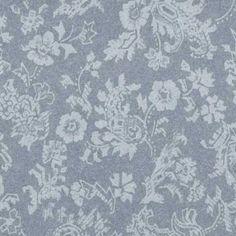 Slate Blue Damask Wallpaper - master bedroom