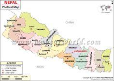 Political Map of Nepal, Nepal Political Map, Nepal Zones Map, List of Nepal Cities Country Maps, Nepal, Arizona, Cities, Asia, Politics, World, Travel, Life