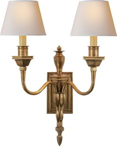 Michael S. Smith for Circa Lighting WINSLOW DOUBLE SCONCE.  630.00 retail (varies w/finish).